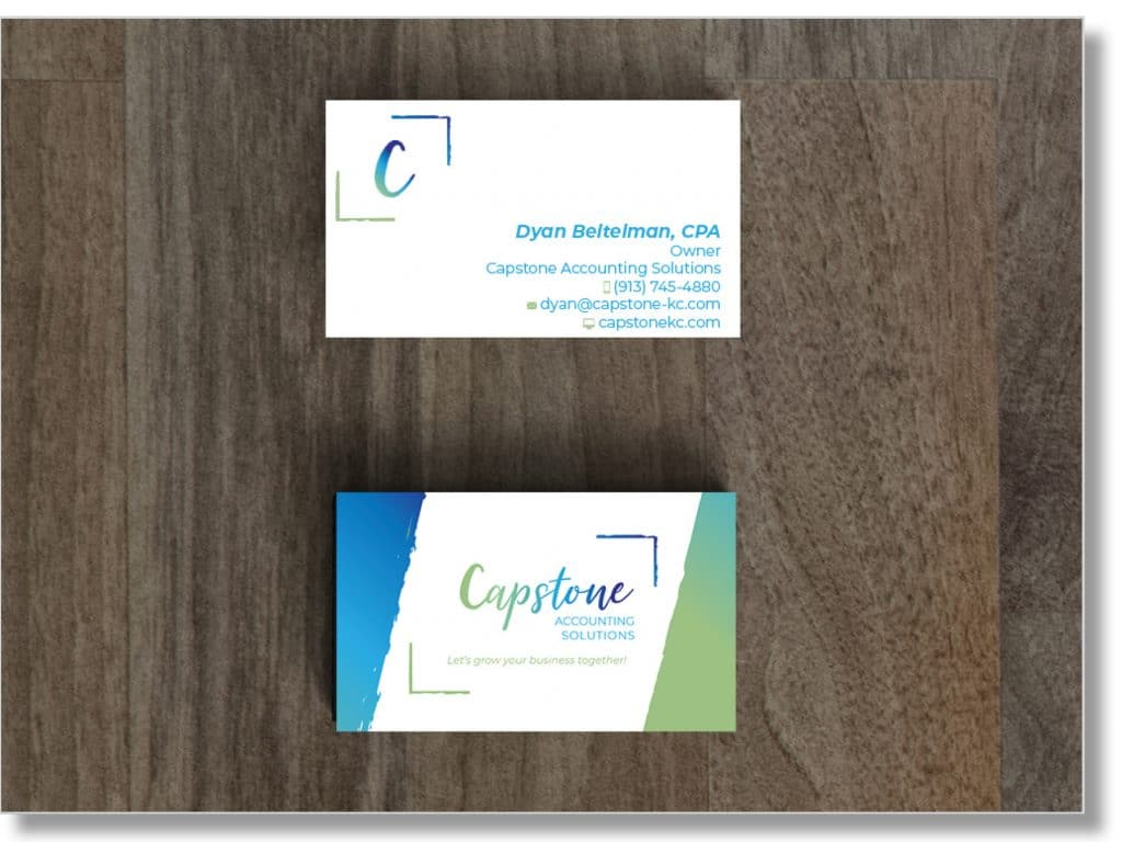 Business Card Design for Capstone Accounting