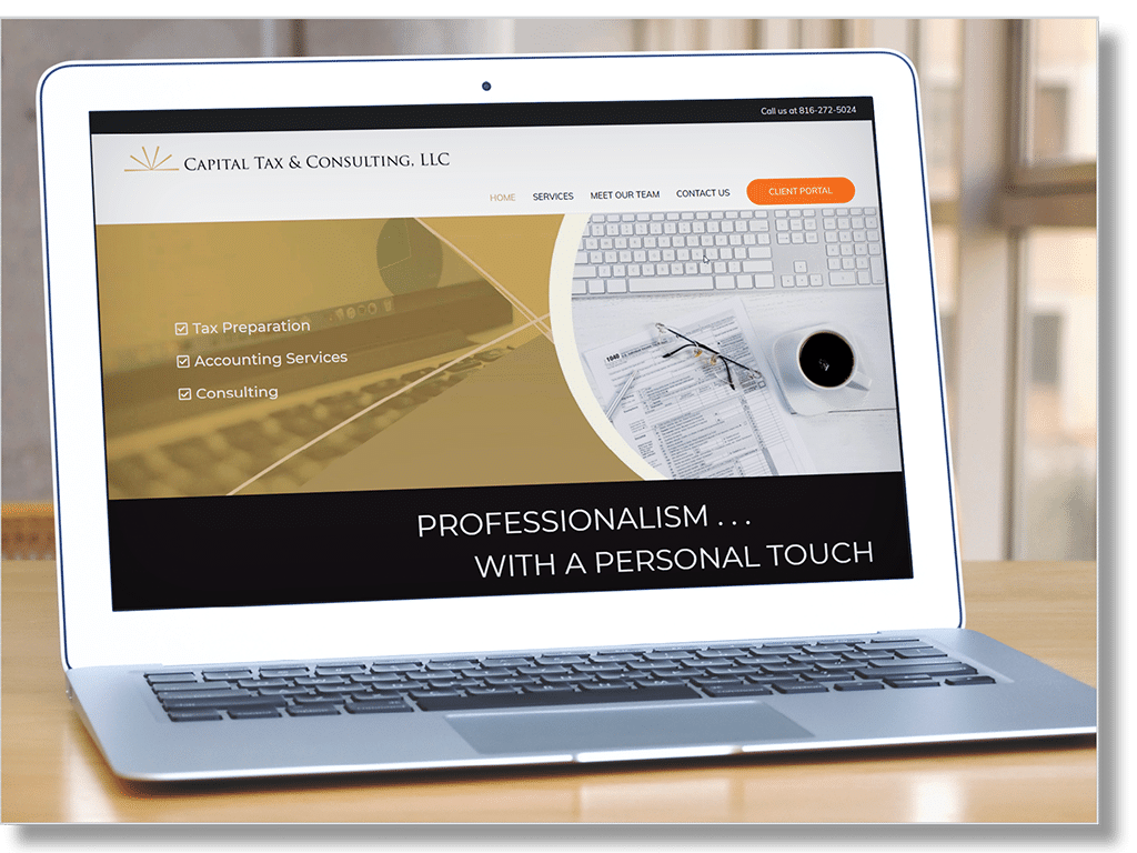 Website designed for Capital Tax and Consulting LLC
